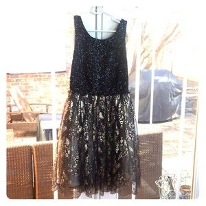Anthropologie sequin formal dress size small